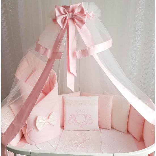 Комплект в кроватку EcoLine Vinsent розовый