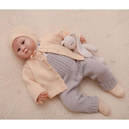 Вязаный комплект для малышей Нежность бежевый
