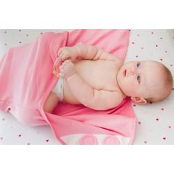 Пеленка на липучке Pecorella Swaddlefun Delicious Rose